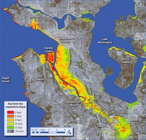 Seattle sea level rise extent aggregation