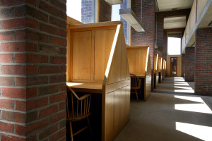 Figure 14a: Row of carrels (left) with mezzanine floor of other above (top right).