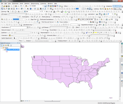 ArcMap with all toolbars turned on...yikes
