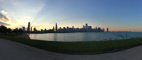 Sunset from the Adler Planetarium